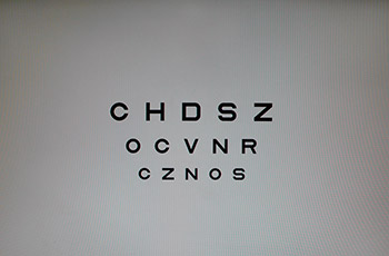 Text de agudeza visual con letras