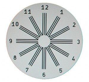 Test del reloj para detectar el astigmatismo