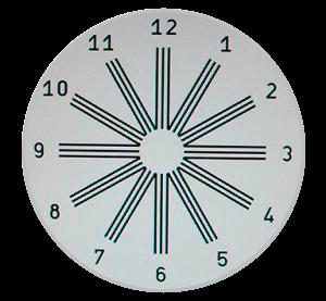 Test del reloj. Evaluación astigmatismo